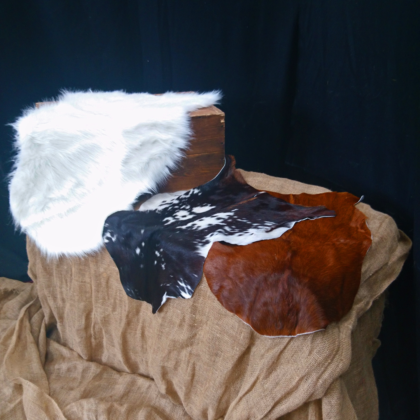 Animal Print Faux Fur Rugs Hire- Event Furniture By Tarren