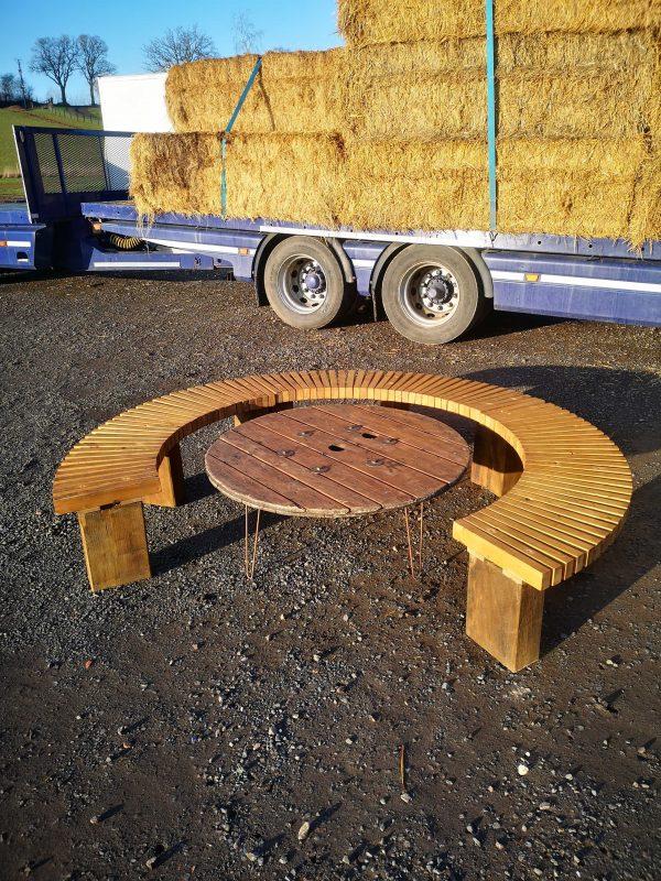 Circular Bench Hire- Wooden