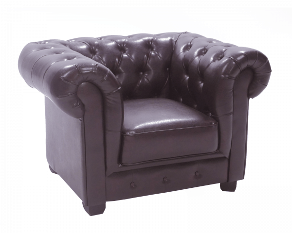 Photo of product: Antique Brown Chesterfield Armchair