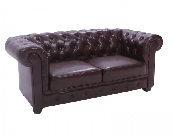 Image of Product: Antique Brown Two Seater Sofa