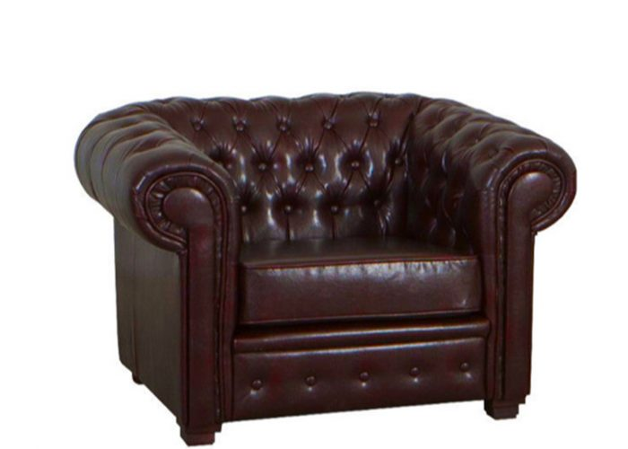Antique Brown Chesterfield Armchair