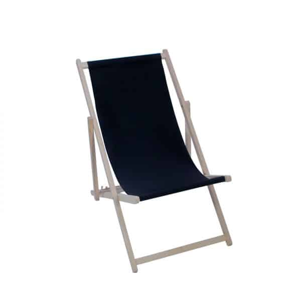 Black Wooden Deckchair