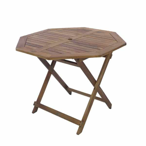 Octagonal Wooden Garden Table