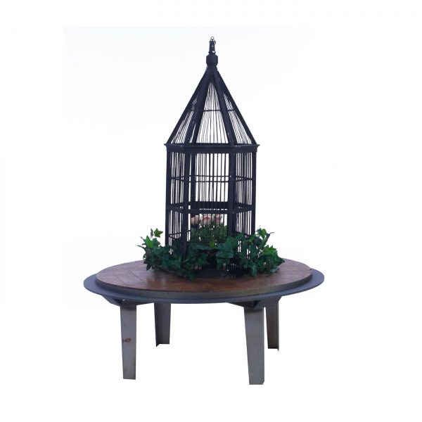 Black Wooden Birdcage