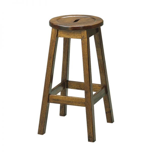 Picture of Rustic Oak Bar Stool