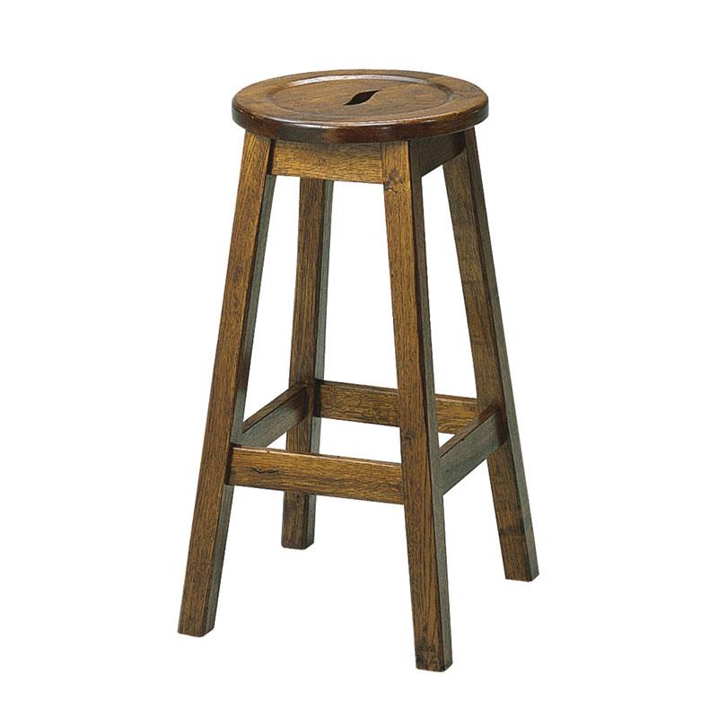 Picture of Rustic Oak Bar Stool