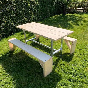 Table and benches by Tarren
